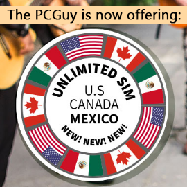 The PCGuys unlimited SIM cards